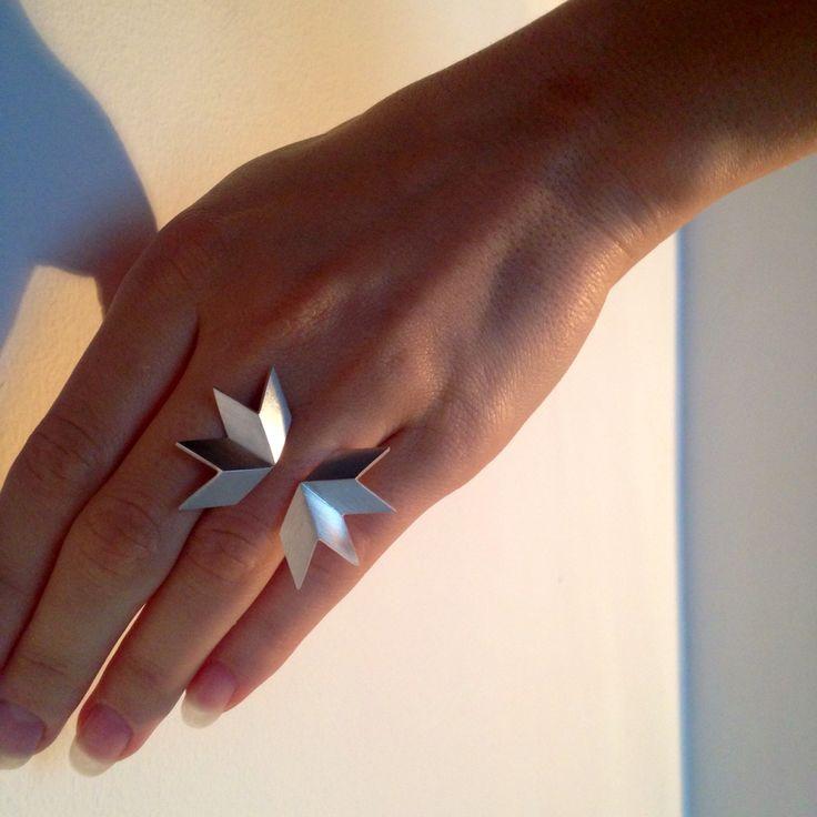 Made by Ella BIRD ring, silver. www.facebook.com/madebyella, @jewelrymadebyella