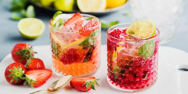 Oppskrift på alkoholfrie drinker mocktails med bær og urter