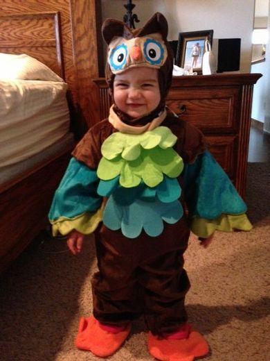 Colorful Owl Kids Halloween Costume