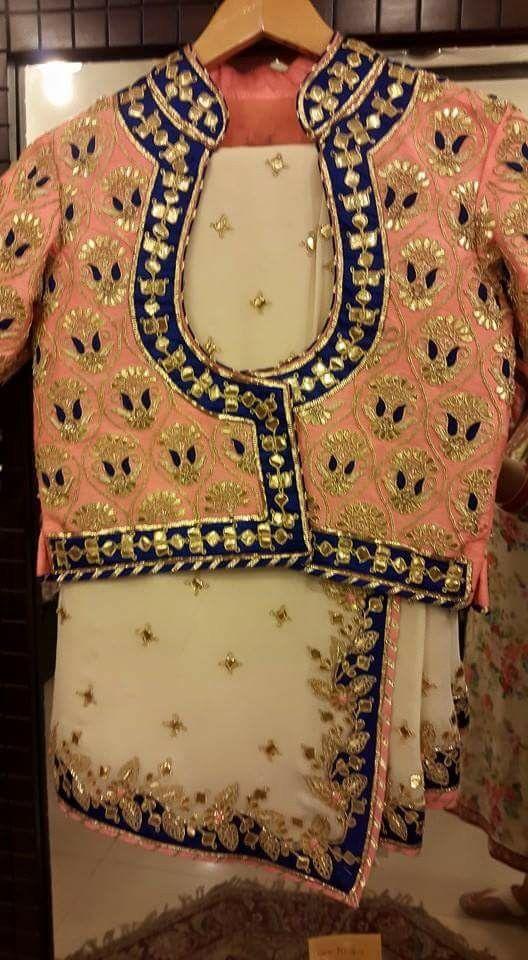 gotha work saree