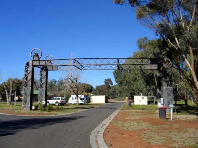 Powered sites for caravans in a unique setting at Balranald NSW.