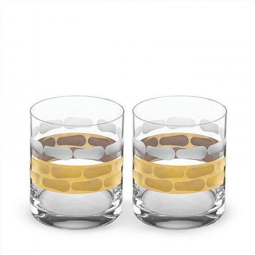 80.00$  Buy now - http://vizso.justgood.pw/vig/item.php?t=t86ipm9998 - Michael Wainwright Truro Platinum Double Old Fashioned Glass, Set of 2