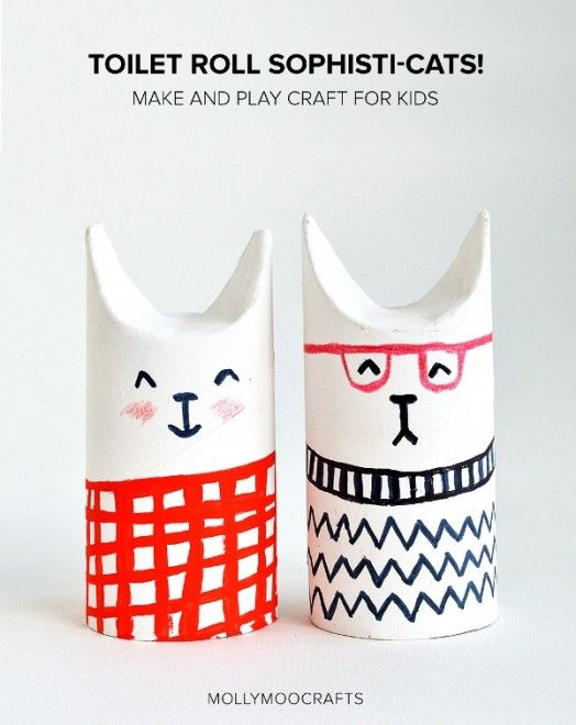 Simple DIY Toilet Paper Roll Sophisti-Cats To Make