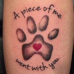 pet memorial tattoo - Google Search