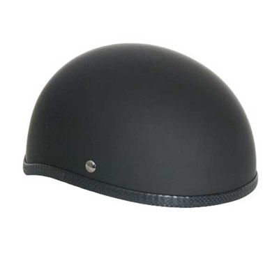 Novelty Skull Cap Helmet - Rubber/Matte Black [SEE WARNING]