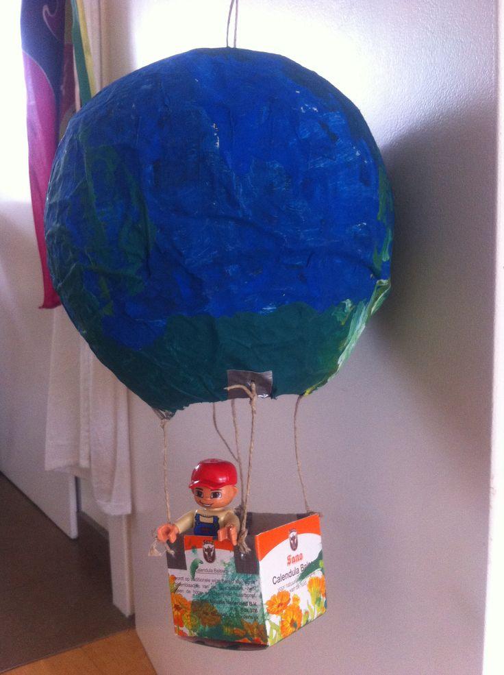 Ballon van papier maché - knutselen met kinderen - Judith voncken