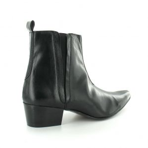 Gucinari 29947 Mens Leather Pull On Chelsea Boots Black Moving