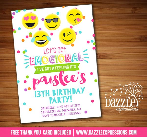 Pin On Printable Birthday Invitations