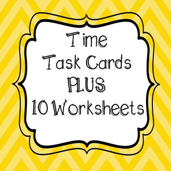 **32 Time Task Cards**WITH 10 WORKSHEETS!!  4th Grade Common Core AlignedElapsed Time, Time Conversion, Comparing Time & Word ProblemsIncludes Student Recording Sheet And Answer Key for task cards and worksheetsAll Task Cards are Numbered for easy recording!!GREAT TEST PREP PRACTICE 2 Sets of 32 Task Cards - 1 with QR Codes to Scan and 1 without QR Codes Task Cards & Worksheets Include:Elapsed TimeTime ConversionsTime ComparisonsWord Problems4.MD.A.210 Worksheets included Use workshee...