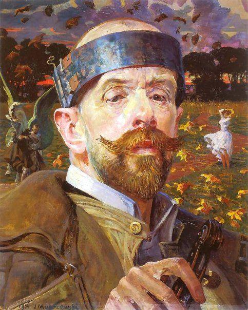 Jacek Malczewski, Self-Portrait, 1906 by kraftgenie, via Flickr