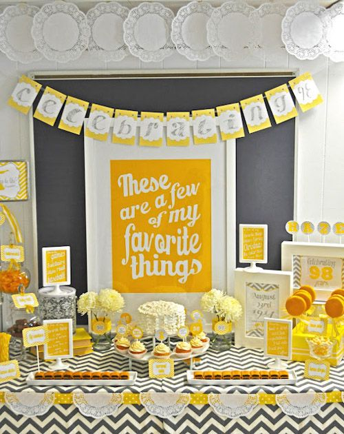 {BN Black Book of Parties} A Few of My Favorite Things Party | A Blissful Nest