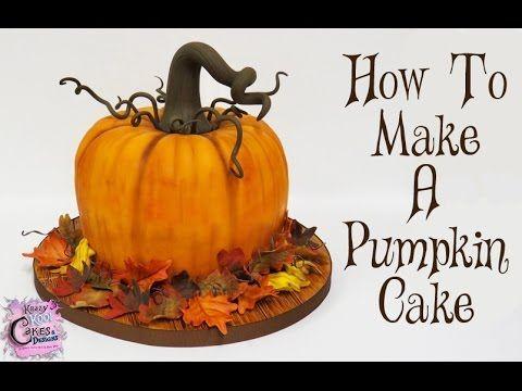 How To Make A Pumpkin Cake: The Krazy Kool Cakes Way! - YouTube