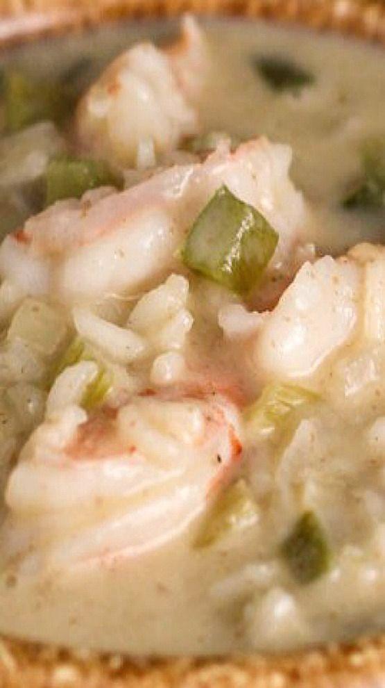 Creamy Cajun Shrimp Soup.