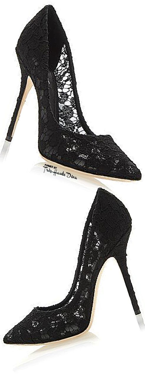 .Black Lace Pumps  My mommy had a pair of these that I adored. Too bad my foot grew before I could wear them. I want!!!!