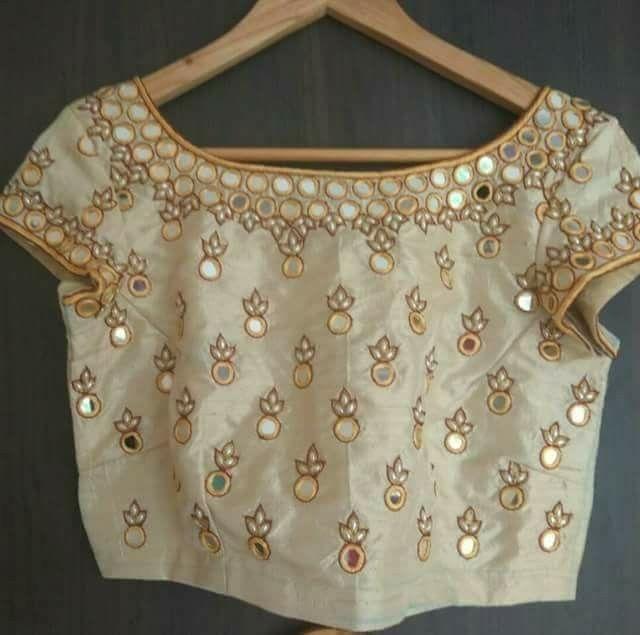 6c5695134dbf0 Mirror embroidery. Mirror embroidery White Blouse ...