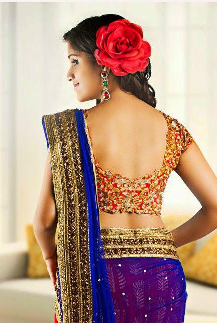 Designer blouses back design images