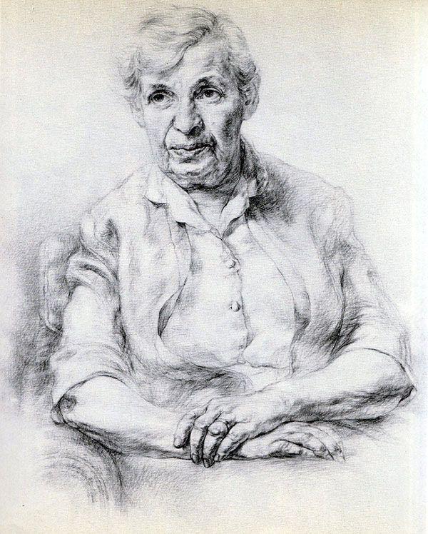 Artist's Mother (1962) watercolour Eric Freifeld