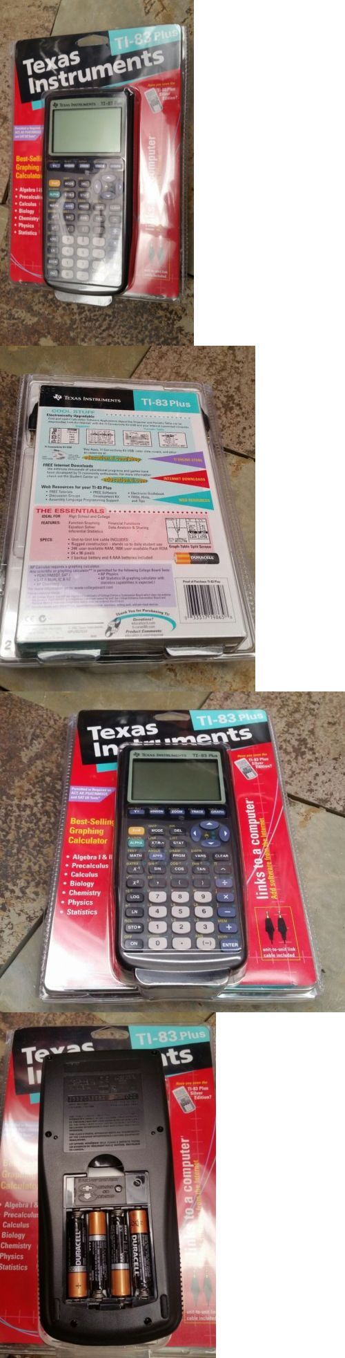 Calculators Texas Instruments Ti 83 Plus Graphing Calculator Buy It Now  Only Download Image How To