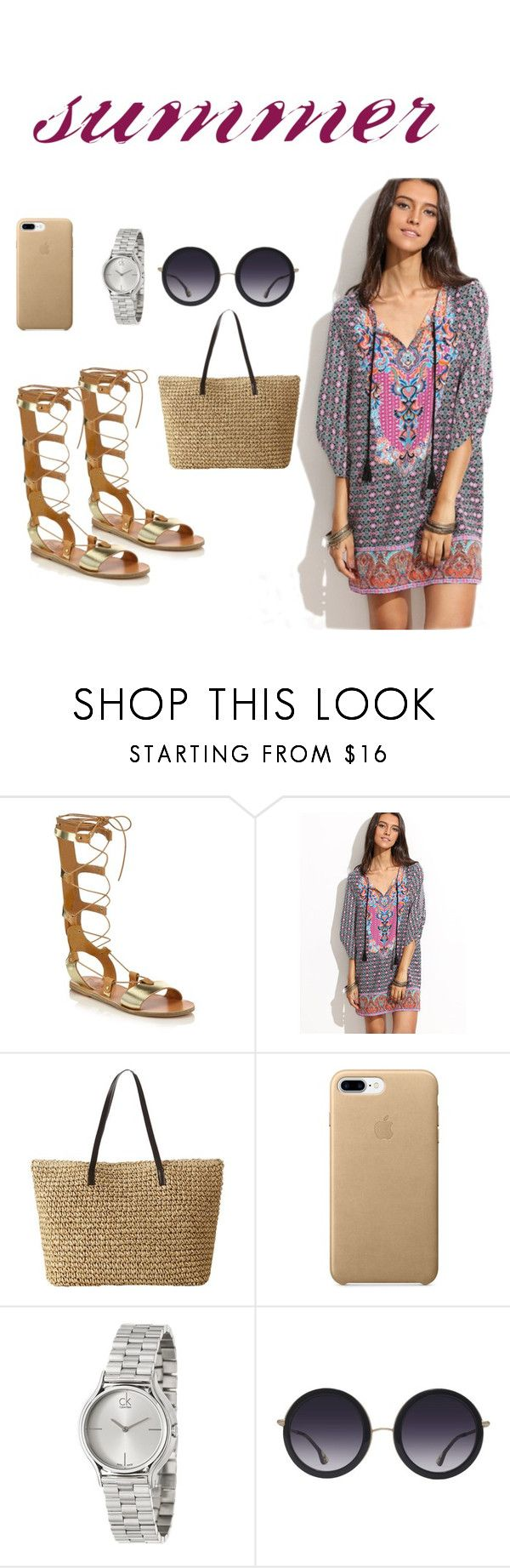 """Untitled #273"" by natalyholly on Polyvore featuring Ancient Greek Sandals, Calvin Klein and Alice + Olivia"