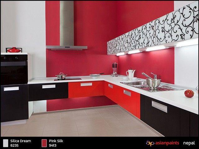 Walls Nepal Modern Kitchen Design Modern Kitchen Interiors Kitchen Design