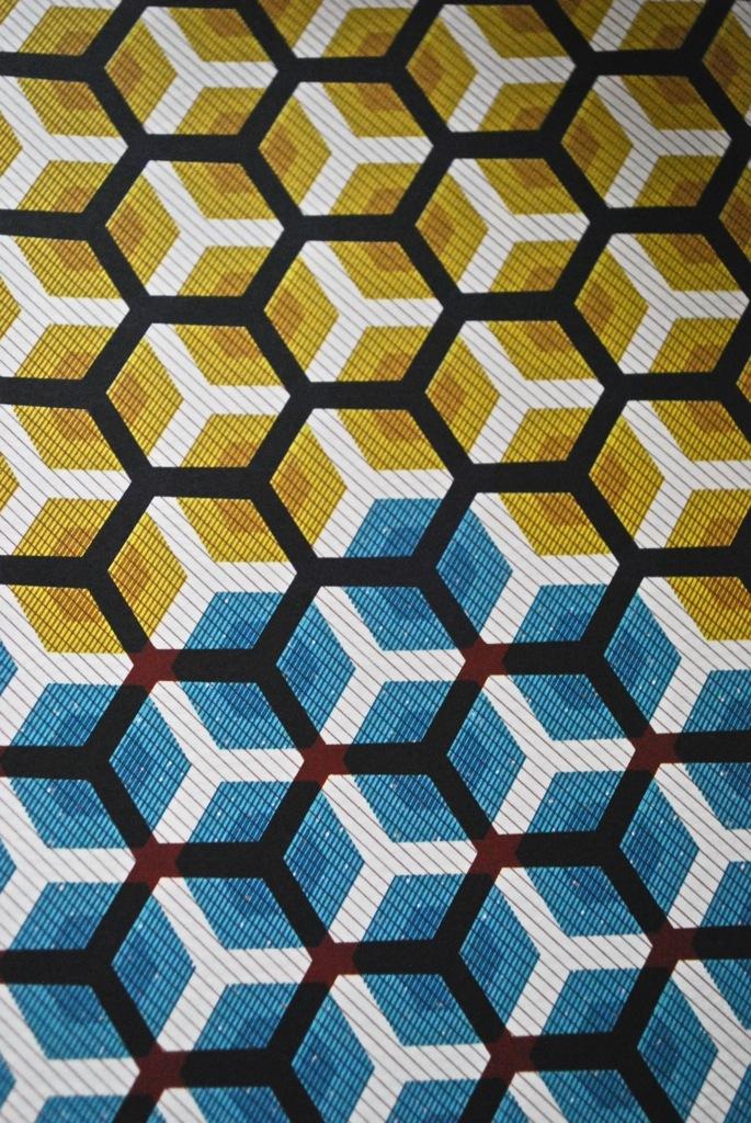 Honeycomb Print On Fabric Geometric Stencil Textures