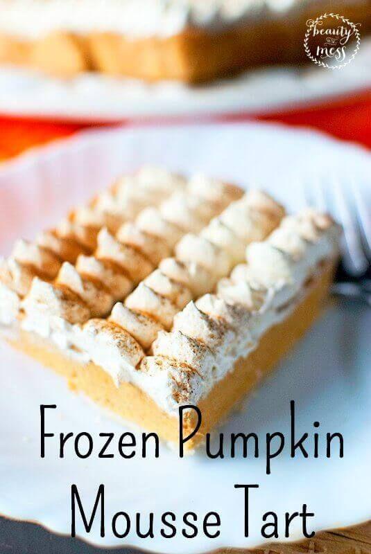 The Perfect Pumpkin Pie Alternative: Frozen Pumpkin Mousse Tart via /wdcornelison/