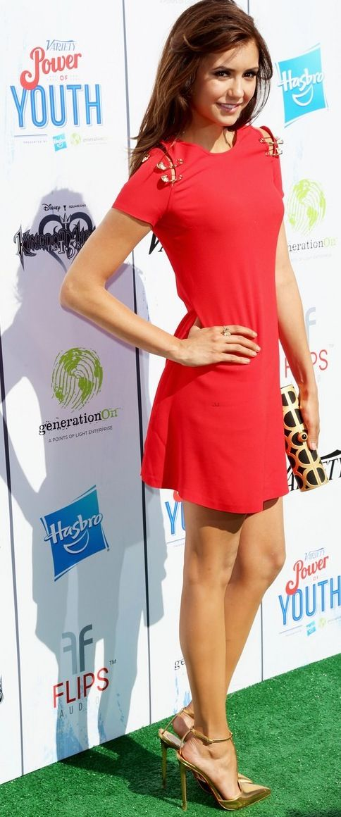 Nina Dobrev | The Vampire Diaries - she just has such an awesome figure and skin tone that you can pretty much dress her in anything, she's a natural beauty.