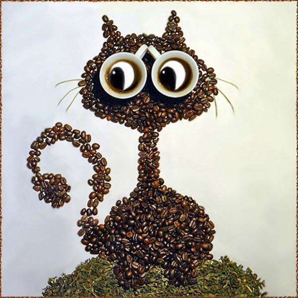 Coffee Bean Art - Irina Nikitina Creates Adorable Animals with Coffee Beans (GALLERY)