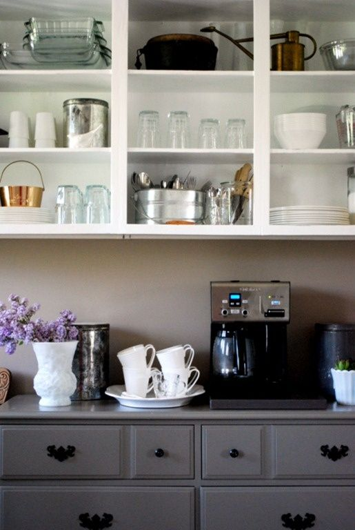 Open Shelving in the kitchen! Yes, please! Great makeover from Boy + Girl Design!