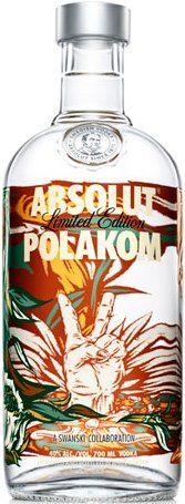 Absolut POLAKOM | Regular Absolut vodka | Designed by Polish artist Swanski (Poland) | City & Countries series. International Editions