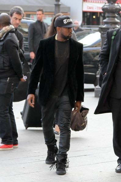 ...he has tassels on his shoes. Only Yeezus. #menswear