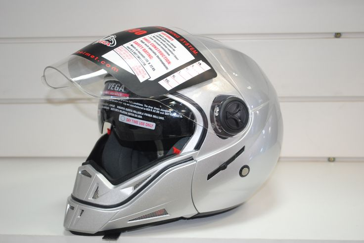 Шлем (трансформер) HD 190, Solid серебряный глянец L, 3090 руб