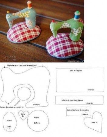 maquette tissu machine à coudre