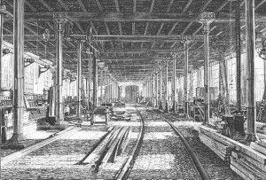 ´Verhalen verloren´ van Ton Wagemakers over de eerste werknemer in de Werkplaats van de Spoorwegen. Foto: interieur houtloods.
