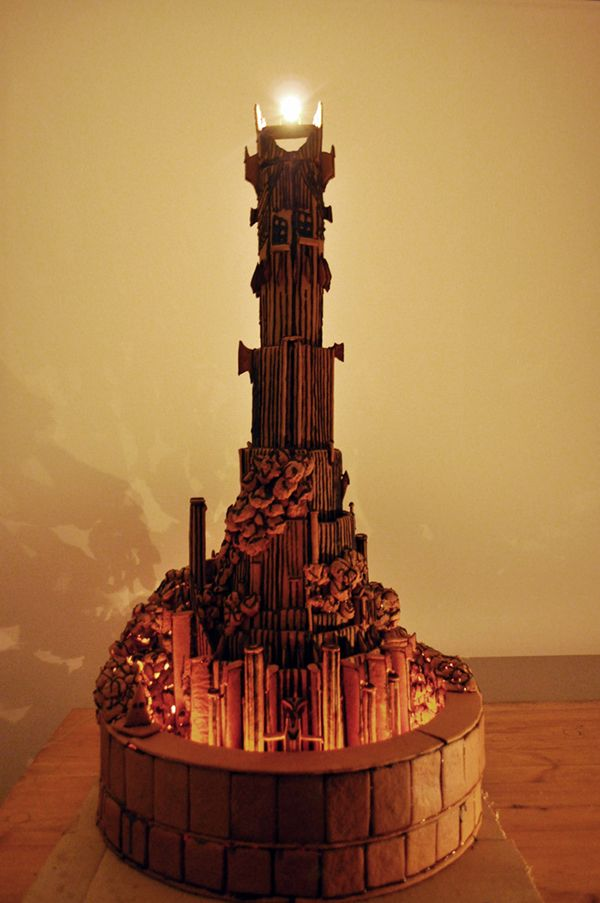 This is the gingerbread Barad-dûr with light-up Eye of Sauron built by two  Finnish engineering and computer science students. It took over of  gingerbread to ... - 31 Best