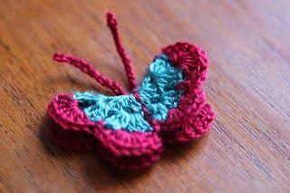 Artesanato com amor...by Lu Guimarães: Borboletas em crochê gráficos e idéias