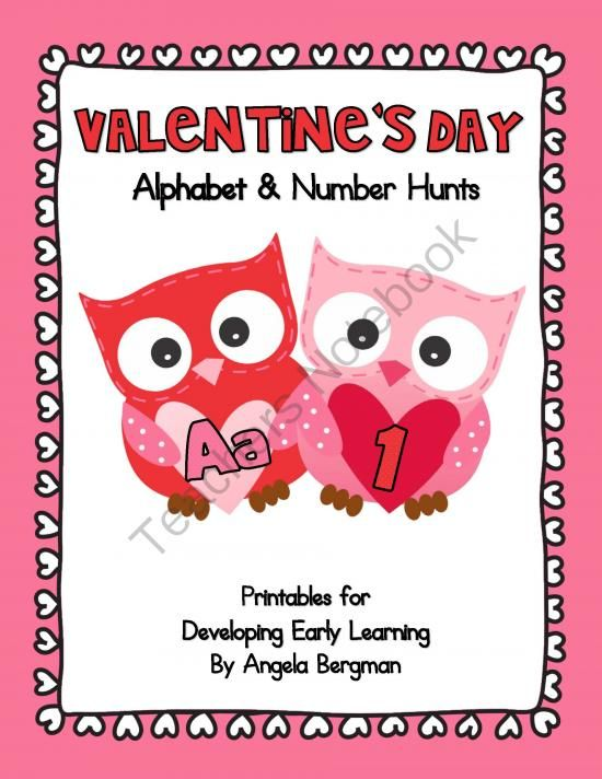 Valentines Day - Alphabet and Number Hunt Pack from Preschool Discoveries on TeachersNotebook.com -  (49 pages)  - Valentine's Day - Alphabet and Number Hunt Pack is designed to help children identify their letters and numbers. Included in this pack are 26 pages of alphabet hunts (A-Z) and 21 pages of number hunts (0-20).
