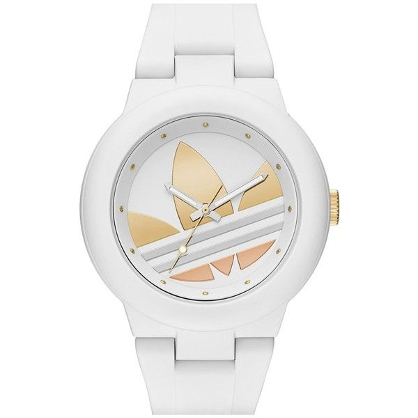 Women's Adidas Originals 'Aberdeen' Sports Watch, 41Mm found on Polyvore featuring jewelry, watches, accessories, relogio, braceletes, oversized jewelry, adidas watches, sport watch, oversized watches and sporty watches