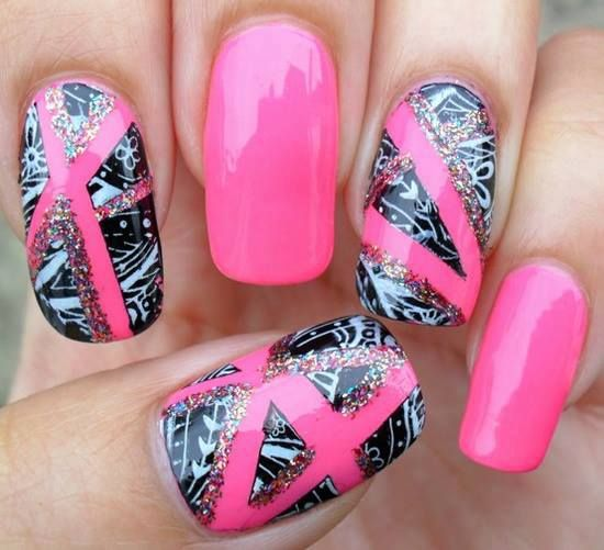Amazing Nail Art: 110 Best Images About Pink Nail Designs On Pinterest