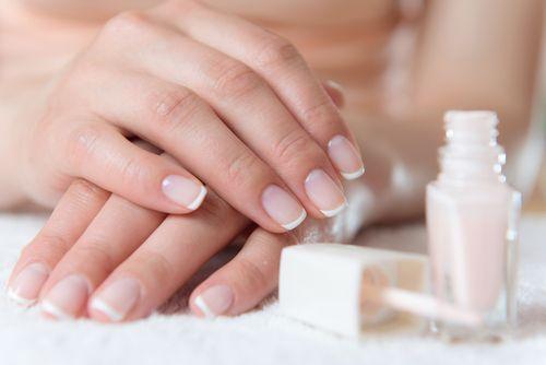 Beautiful french manicure
