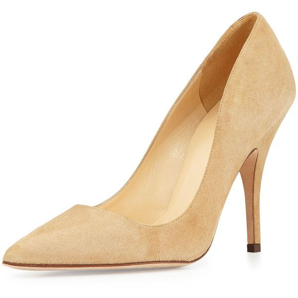 kate spade new york licorice suede point-toe pump (€285) ❤ liked on Polyvore featuring shoes, pumps, heels, light camel, high heel pumps, suede pointed toe pumps, pointed toe shoes, kate spade pumps and high heel shoes