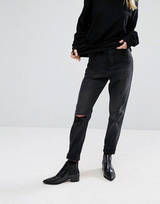 Vero Moda | Состаренные джинсы в винтажном стиле Vero Moda