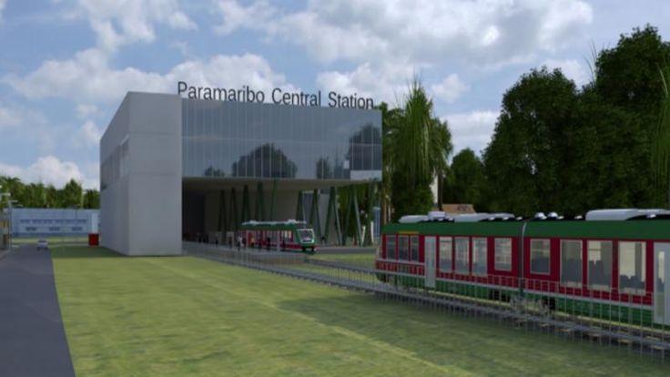 Toekomst plannen voor een tramlijn in Suriname. Het spoor gaat vanuit Paramaribo naar het 30 kilometer zuidelijker gelegen plaatsje Onverwacht lopen. Het is de bedoeling dat de spoorlijn in de toekomst wordt doorgetrokken naar vliegveld Zanderij.