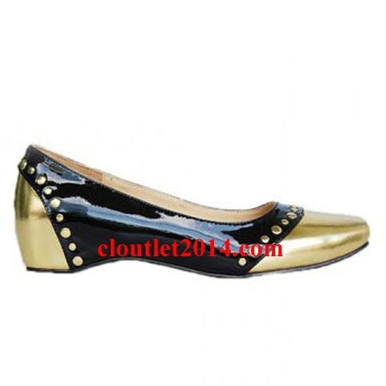 Christian Louboutin Patent Mousse Clou Flats Black Gold · Christian  Louboutin OutletCl ShoesWomens ...