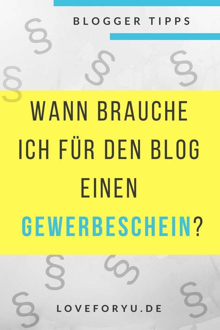 Wann als Blogger bzw. Instagramer Gewerbe anmelden? | loveforyu – Blogging