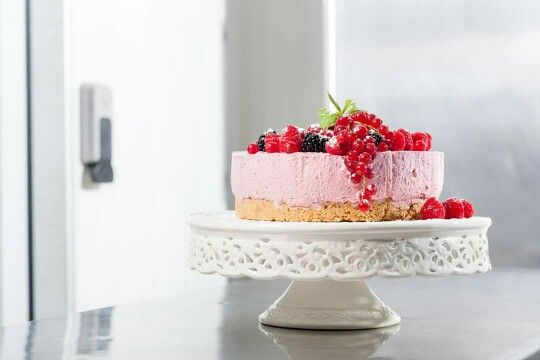 The sweetest surprise from Spicy Bites: #strawberry #cheesecake with fruit of the forest and sugar dust on the top. It is so beautiful and delicious!