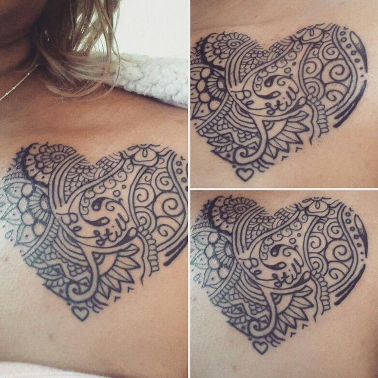 My second tattoo. Heart Mandala.  Ps: 46v10 be still and know