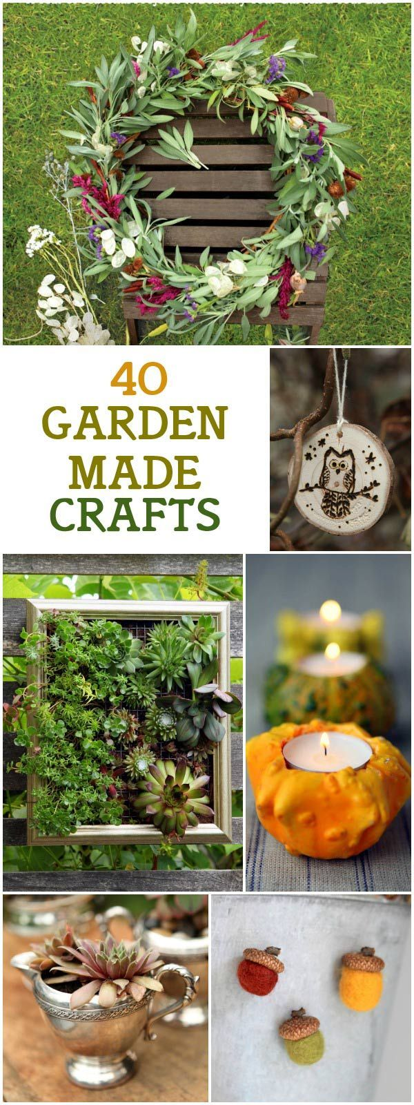 Garden Made: A Year of Seasonal Projects to Beautify Your Garden and Your Life by Stephanie Rose includes 40 down-to-earth ideas for inspired garden crafts, including containers, handmade gifts, outdoor lighting, holiday decorations, and more.