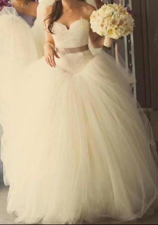 Vera  Wang wedding dress. I almost had this dress...