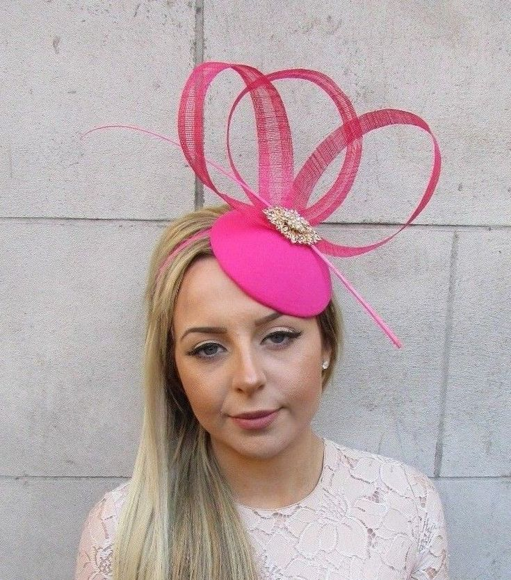 Hot Pink Gold Sinamay Feather Flower Pillbox Hat Fascinator Races Ascot Vtg 5171 by Starcrossedbeauty on Etsy https://www.etsy.com/uk/listing/595889661/hot-pink-gold-sinamay-feather-flower